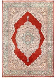 Orange Red Isfahan 8' 4 x 12' 2 - No. 56720