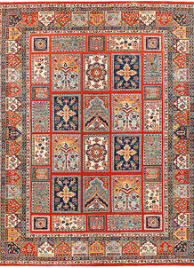 Orange Red Bakhtiar 8' 10 x 11' 5 - No. 56968