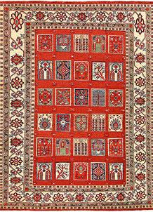 Orange Red Bakhtiar 5' 10 x 7' 9 - No. 56979