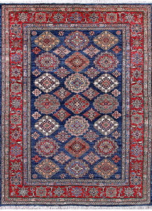 Medium Blue Kazak 5' 2 x 6' 8 - No. 57217