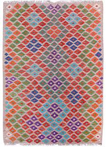 Multi Colored Kilim 5' 9 x 7' 10 - No. 57239