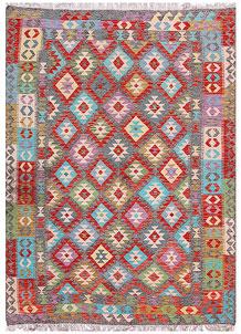Multi Colored Kilim 5' 9 x 7' 9 - No. 57246