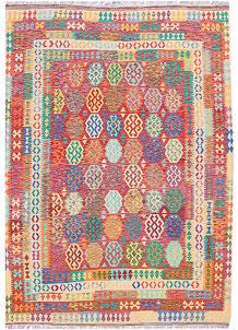 Multi Colored Kilim 8' 5 x 11' 7 - No. 57287