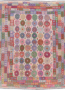 Multi Colored Kilim 8' 4 x 11' 7 - No. 57310