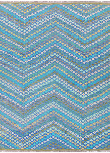 Multi Colored Kilim 8' 2 x 9' 9 - No. 57372