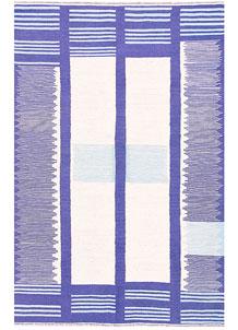 Medium Slate Blue Kilim 4' 1 x 6' 1 - No. 57398