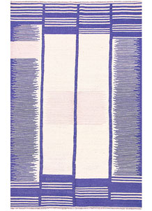 Medium Slate Blue Kilim 4' 1 x 6' 2 - No. 57399
