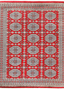 Red Caucasian 9' 2 x 10' 11 - No. 58545