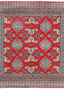 Red Caucasian 6' 9 x 7' 2 - No. 58574