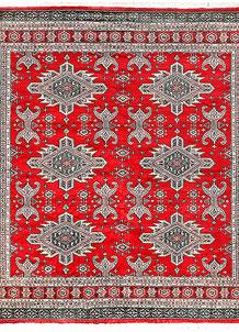 Red Caucasian 6' 10 x 6' 11 - No. 58575