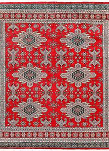 Red Caucasian 6' 7 x 7' - No. 58576