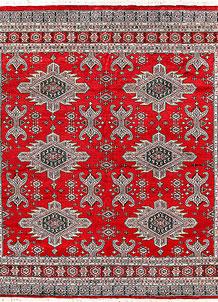 Firebrick Caucasian 6' 11 x 6' 11 - No. 58580