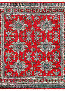 Firebrick Caucasian 7' 1 x 6' 9 - No. 58581