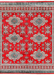 Red Caucasian 6' 11 x 6' 11 - No. 58582
