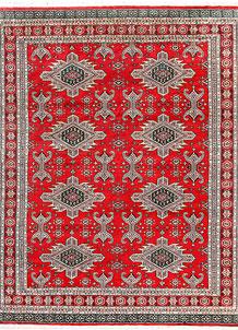 Red Caucasian 6' 8 x 8' 5 - No. 58585