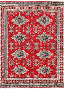 Red Caucasian 6' 8 x 8' 4 - No. 58586