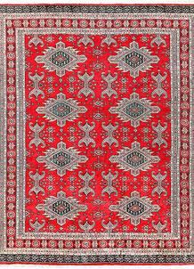 Red Caucasian 6' 8 x 8' 4 - No. 58589