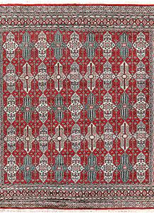 Red Caucasian 6' 8 x 6' 8 - No. 58619