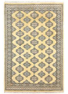 Pale Goldenrod Jaldar 4' 5 x 6' 7 - No. 58730