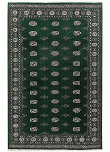 Darkgreen Bokhara 6' 7 x 10' 2 - No. 59289