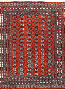 Orange Red Bokhara 8' x 10' 2 - No. 59441