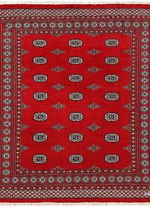 Firebrick Bokhara 6' 7 x 7' 8 - No. 59737