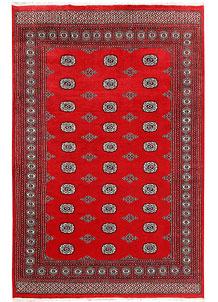 Red Bokhara 6' x 9' 2 - No. 60046