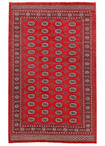 Firebrick Bokhara 6' 1 x 9' 8 - No. 60047