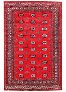 Crimson Bokhara 6' 1 x 9' 3 - No. 60103