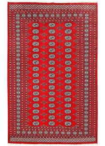 Red Bokhara 6' 1 x 9' 6 - No. 60114