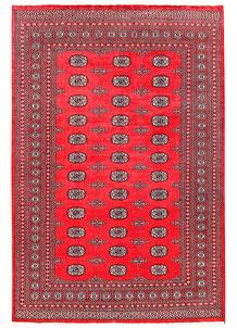 Crimson Bokhara 6' 1 x 9' 1 - No. 60125