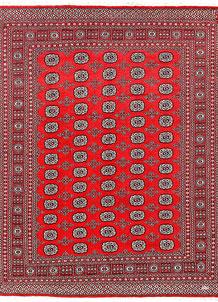 Red Bokhara 6' 9 x 8' 10 - No. 60127