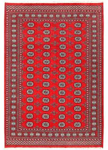 Red Bokhara 6' x 8' 10 - No. 60129