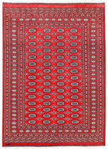 Crimson Bokhara 6' 5 x 8' 11 - No. 60142