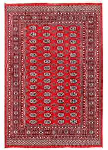 Red Bokhara 6' x 8' 10 - No. 60143