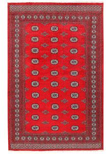 Red Bokhara 6' x 9' 4 - No. 60148