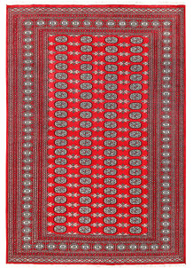 Red Bokhara 6' 3 x 9' - No. 60150