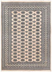 Antique White Bokhara 6' 1 x 8' 8 - No. 60217