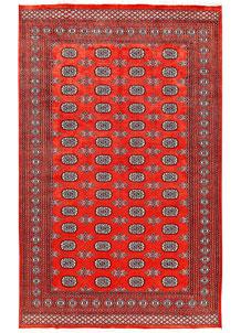 Orange Red Bokhara 5' 11 x 9' 5 - No. 60259