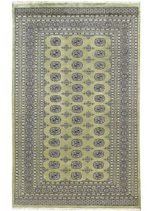 Dark Olive Green Bokhara 5' 11 x 9' 8 - No. 60268