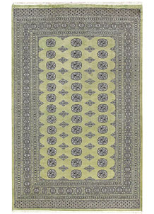 Dark Olive Green Bokhara 6' x 9' 7 - No. 60269