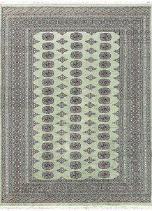 Dark Sea Green Bokhara 6' 2 x 7' 10 - No. 60273
