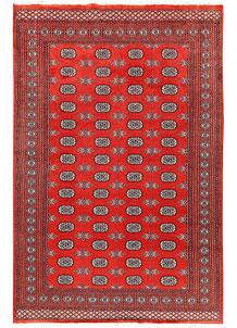 Orange Red Bokhara 5' 11 x 9' 1 - No. 60305