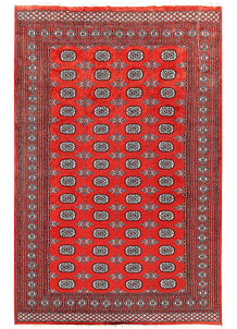 Orange Red Bokhara 5' 10 x 8' 11 - No. 60306