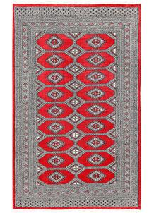 Red Jaldar 5' 1 x 8' 2 - No. 60372