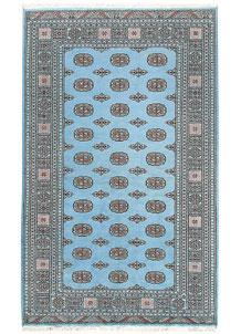 Sky Blue Bokhara 5' 1 x 8' 2 - No. 60382
