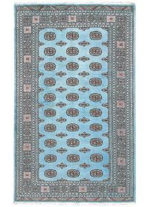Sky Blue Bokhara 5' 1 x 8' 5 - No. 60384