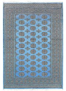 Light Sky Blue Bokhara 5' 2 x 7' 5 - No. 60385