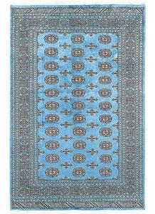 Light Sky Blue Bokhara 5' x 7' 7 - No. 60386