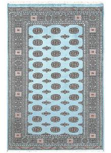 Sky Blue Bokhara 5' 1 x 7' 8 - No. 60387